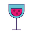 cartoon glass wine vector image