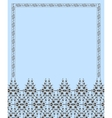 Floral frame and pattern vector image vector image