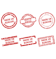 Made in Europe stamps vector image vector image