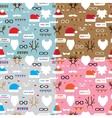Seamless pattern scrapbooking set Santa reindeer vector image