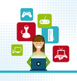 video gamers vector image