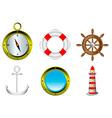 sailing icons i vector image