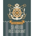 anchor and seafood restaurant vector image