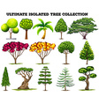 Ultimate isolated tree collection set vector image