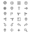 Navigation Line Icons 2 vector image