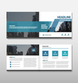 Blue abstact annual report Leaflet Brochure Flyer vector image