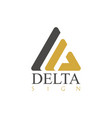 delta sign logo vector image