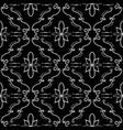 elegant flourish seamless pattern vector image
