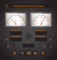 Heating Interface vector image