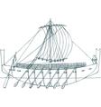 Phoenician ship vector image