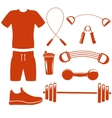 sport equipment silhouette template vector image