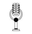 vintage microphone icon image vector image