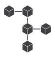 Blockchain icon vector image