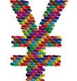 Colorful three-dimensional symbol vector image