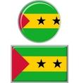 Sao Tome and Principe round square icon flag vector image
