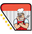 Pig chef vector image