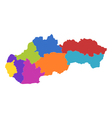 Map of Slovakia vector image