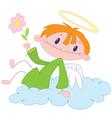 angel boy vector image vector image
