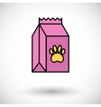 Pet food bag vector image