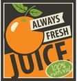 always fresh juices vector image