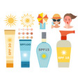 cream sunscreen bottle icon sunblock vector image