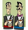 dignified gentlemen cartoon vector image