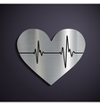 Flat metallic logo heart vector image