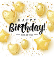 happy burtday greeting card design with golden vector image