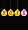 new year 2015 balls color vector image