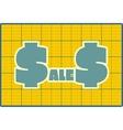 Sales draft design sticker vector image