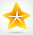 starfish icon vector image