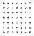 Web and office icons vector image