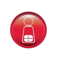 button key alarm system car vector image