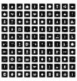 100 beverage icons set grunge style vector image