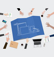 mobile apps application development construction vector image