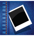 frame on a blue jeans background vector image vector image