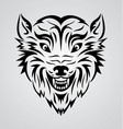 Wolf Face Tribal vector image vector image