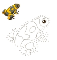 Draw the animal frog educational game vector image
