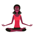 Yoga lotus pose Vector Image