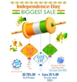 Tricolor kite on India banner with Indian flag vector image vector image