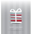 Abstract Christmas card gift and paper ribbon vector image