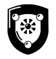 antique shield icon simple style vector image