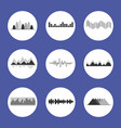 charts set placed in circles vector image