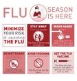 Flu season is here vector image