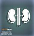 Kidneys icon On the blue-green abstract background vector image