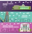 Orlando tourist landmark banners set vector image