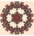 Round mandala in red and loght brown color Vintage vector image