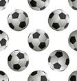 Soccer football Seamless pattern vector image