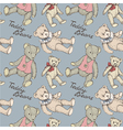 Teddy pattern blue vector image