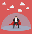 Businessman superhero with protection power vector image